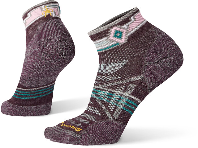 Smartwool PhD Outdoor Light Pattern Mini Calcetines Mujer, bordeaux
